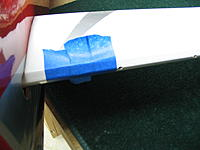 Name: IMG_5692.jpg Views: 170 Size: 111.3 KB Description: Painter's tape over the stabliizer to protect from spouge out of epoxy at the joiner and elevator.