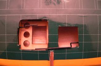Pushrods prior to servo installation