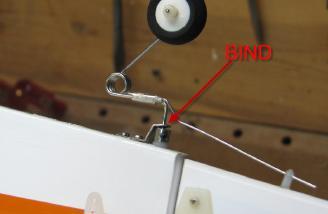 Binding tailwheel