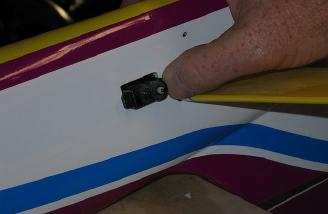 OOPS! Best to measure if you have enough depth to put in the rudder servo BEFORE cutting the hole for it.