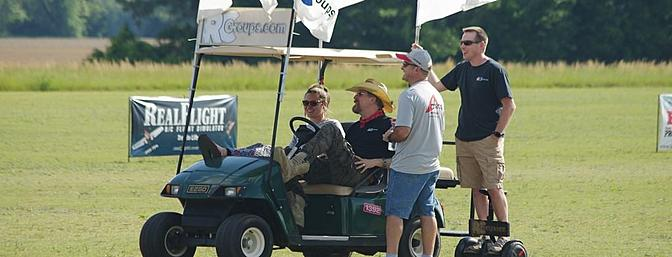 If you see the RCGroups golf cart be sure to say hello!