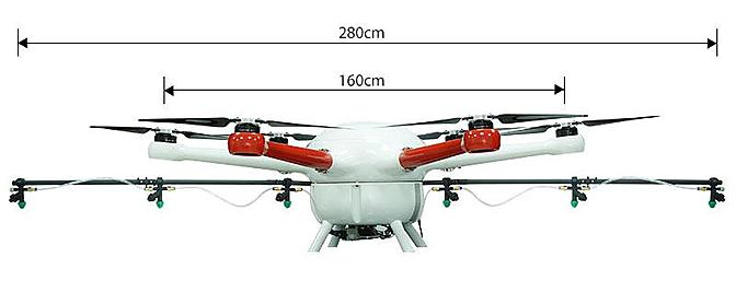 The Foxtech GAIA 160-Agriculture(AG) 23L Tank Hexacopter