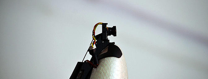 The FPV camera rotates when you flick the switch from MR mode to forward flight.
