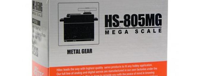 The metal geartrain makes the HS-805MG an excellent candidate for steering 1/5 Scale vehcles and driving control surfaces on large scale models.