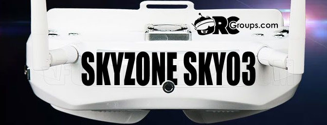 Skyzone SKY03 5.8G 48CH 3D FPV Goggles