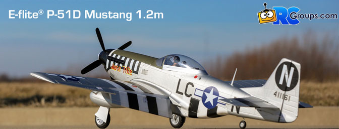 E-flite P-51D Mustang 1.2m BNF Basic with AS3X