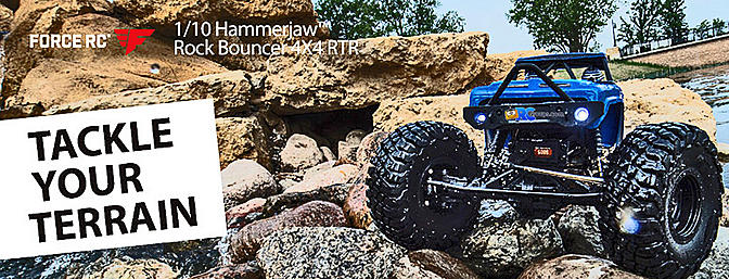 1/10 Hammerjaw 4WD Rock Bouncer Brushed RTR - Force RC