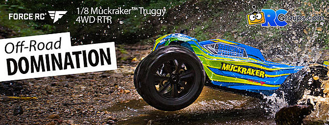 Force RC 1/8 Muckraker 4WD Truggy Brushless RTR