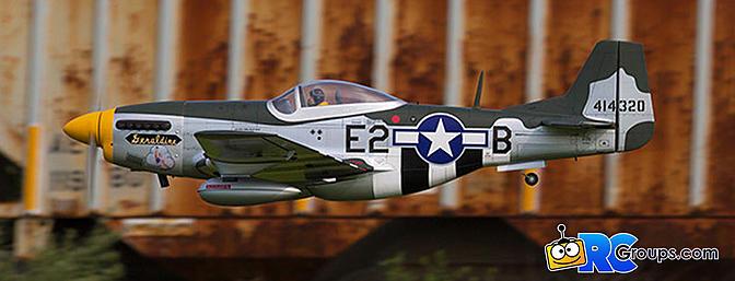 """Hangar 9 P-51D Mustang 20cc ARF 69.5"""" (HAN2820)"""