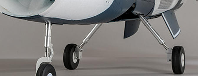 The factory-installed landing gear features reliable electric retracts equipped with durable metal components and shock-absorbing struts that make it possible to fly from a wider variety of surfaces including paved runways and even grass.
