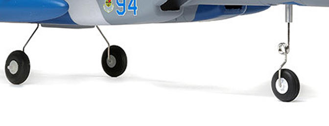 You can install the included fixed landing gear with steerable nose wheel to taxi, take off and land on smooth surfaces. Or you can leave the landing gear off for more speed and vertical performance plus easy hand launches and landings on grass.