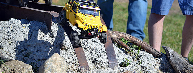 The rock crawling course was very creative!
