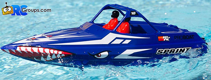 "ProBoat - Sprintjet 9"" Self-Righting Jet Boat Brushed RTR, Blue (PRB08045T2)"