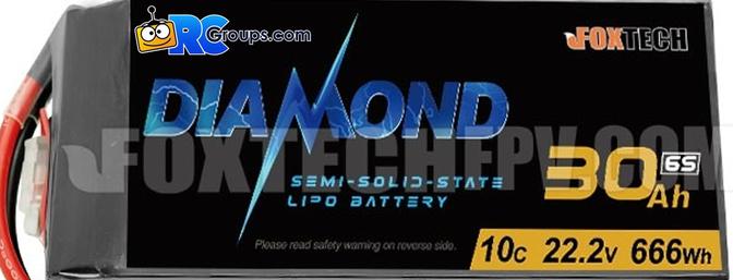 Foxtech - Diamond 6S 30000mAh Semi-solid State Lipo Battery