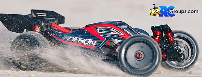 1/8 TYPHON 6S V5 4WD BLX Buggy with Spektrum Firma RTR