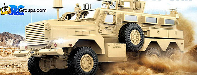 LEGENDHOBBY -  Scale HG-P602 MRAP Explosion Proof Truck Upgraded ARTR