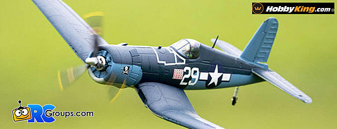 """H-King (PNF) Chance Vought F4U Corsair 750mm (30"""") w/6 Axis ORX Flight Stabilizer"""