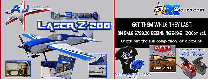 "AJ Aircraft - 92"" Laser Z200"
