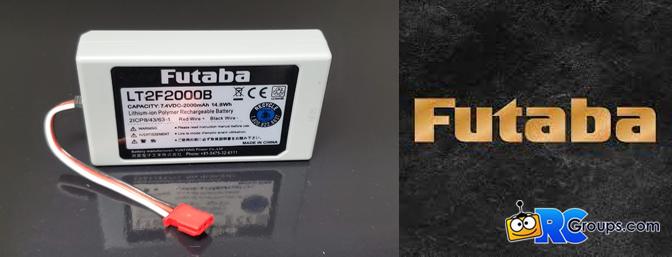 Futaba - LT2F2000B – 2000 mAh Transmitter LiPo Battery