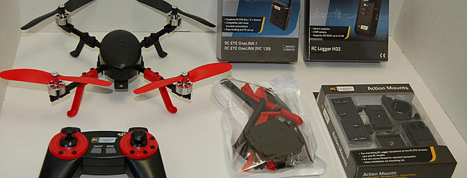 Here are all the accessories you can use with the RC Eye One Extreme.