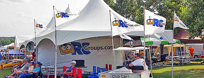 "The RCGroups ""Big Top"" was in the middle of the main line. We used it to upload and edit videos. We also provided chairs for spectators so they could sit in the shade and enjoy the flying."