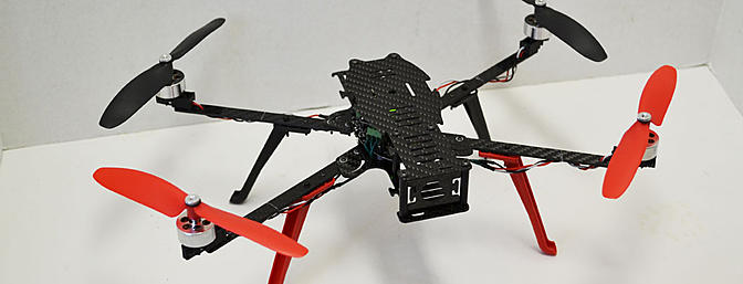 Here is the frame from the front ready to fly. All I need is FPV gear.