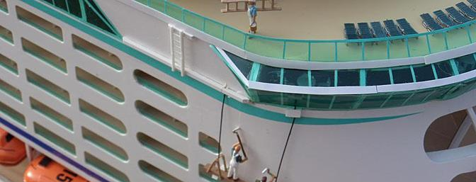 More detail of the Voyager of the Seas.
