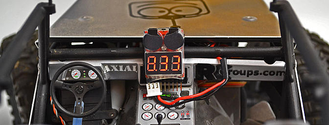 I use it on the dashboard of my FPV truck. I can simply pan down to look at my battery voltage.
