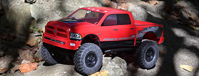 Axial took the Ram truck and combined it with the SCX10 trail truck chassis for off-road RC fun.