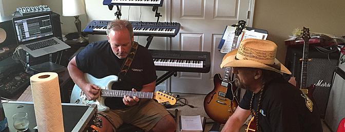 Chris and I had to take some time to visit the guitar room. If you are hanging with Chris and don't get to hear him play you are doing it wrong!
