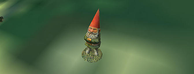 The gnome is always scowling.