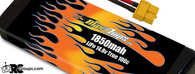 New MaxAmps Lipo 1850mah 4s 14.8V Drone Racing Battery Pack