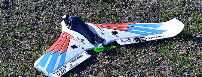 Even a bad throw with no throttle will result in a smooth landing if you have the safe mode engaged on the Blade/Horizon Hobby  Theory Type W.