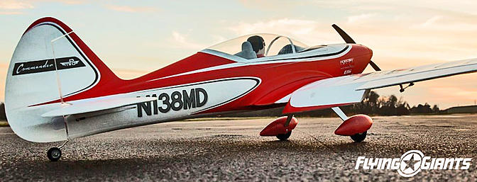 Classic lines and modern influences work together perfectly in the Commander mPd 1.4m park flyer radio control airplane.