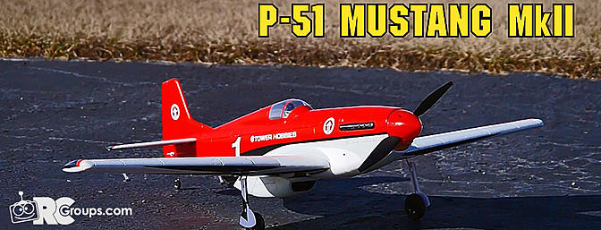 Tower Hobbies P-51D Mustang MkII Racer Red Rx-R