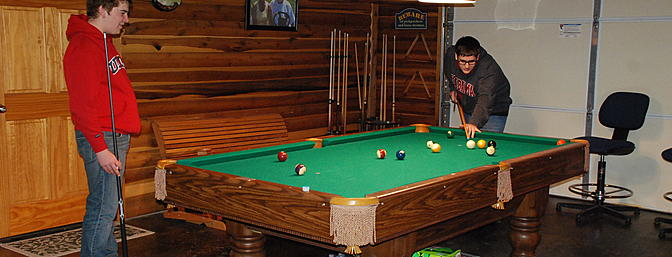 Clover Creek has it all, even a pool table for after hours fun.