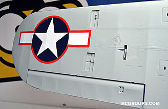 Servos are installed on the  H-King J3 Navy Cub (NE-1) 1400mm (PnP), as are the decals.