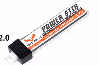 STRIX Power Stix - 1s 220mAh Powerhouse with bigger JST-PH 2.0 Connector