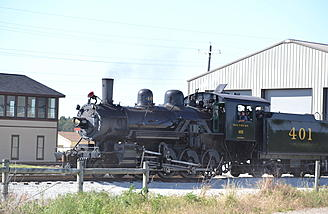 Behind Eli Field is a train restoration center. Every so often you would see something like this steam out of a building.