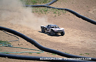 Event goers got to try their hand at off-road RC trucks on the Horizon track.