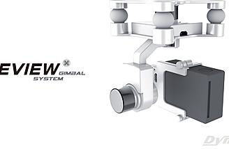 The gimbal supports two installation modes: hanging  and vertical