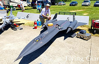 We also have Lance Cambell with his BlackBird from yesterday's write-up. I just had to take another picture. It's the only model of this size out there!