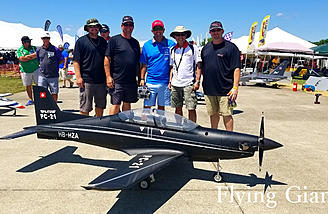 Ali Machinchy took no prisoners as he wowed the crowd with the Platus PC-21 from KingTech and Skymaster.
