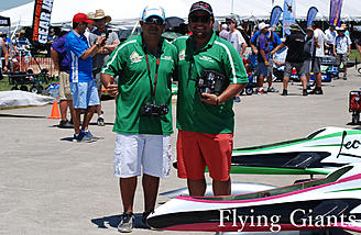 Franco Di Mauro and Leopold Lenzi from Venezuela flew a balls to the wall duet at demos. They are both flying Leonardos from RedWing guided with Spektrum DX 20(s).