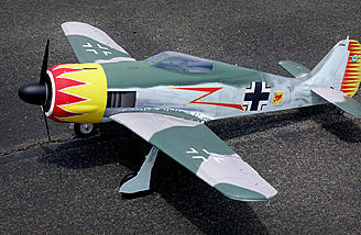 """This isn't the """"brand new� looking warbird that is typically seen… congratulations on owning the first ARF that comes dirty out of the box!"""