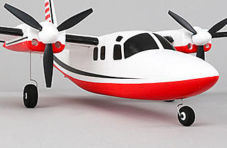 Removable Landing Gear and Steerable Nose Wheel - The wide-stance main gear and steerable nose wheel make it fun to fly from smooth surfaces.