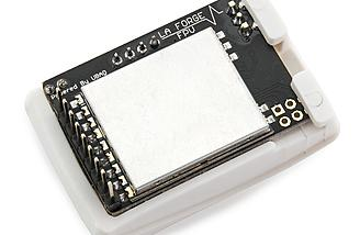The back of the LaForge V2 Fatshark module.