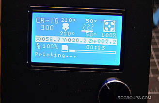 The LCD screen allows you to run the CR-10 3D printer without being connected to a PC. It's pretty intuitive and easy to get around on.