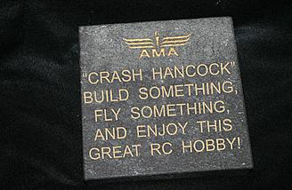 Crash is immortalized at the AMA home field.