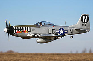 This P-51D Mustang model replicates a legendary U.S. Army Air Core fighter used with the 20th Fighter Group and flown by Capt. Ernest Fieb Fiebelkorn who became a top-scoring Ace during WWII.